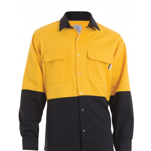 8.7 cal Shirt Navy/ Yellow XL