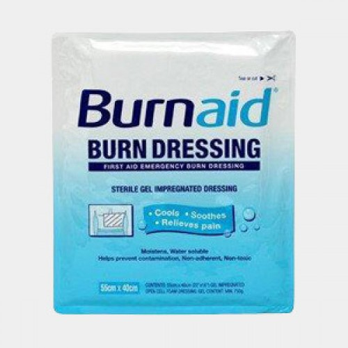 Burnaid Burn Dressing Gel 55cmx40cm