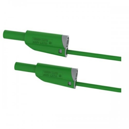 2619-IEC-100V 100cm Safety Stackable Test Lead 4mm – Green
