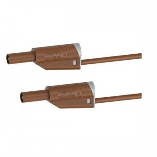 2619-IEC-50BN 50cm Safety Stackable Test Lead 4mm – Brown