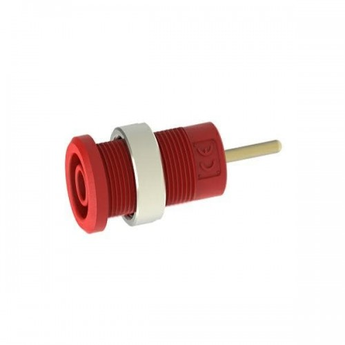3267-C-R Red 4mm Safety banana socket with 1.9mm pin connexion