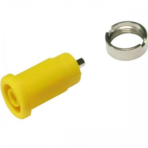 3270-C-Y Yellow 4mm Banana Socket with 2mm soldering hole
