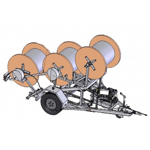 Cable Drum Trailer 3x 710kg