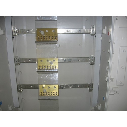 Brass Terminal Block for  Cabinets. 6-50sq mm Service Cables