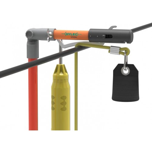 Stick attachment to drop rope over OHL