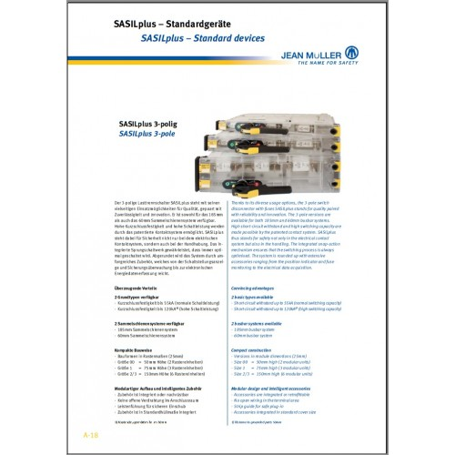 CATALOGUE - Jean Muller Catalogue SASILplus 3 Pole 2013 Chapter 2 Standard devices