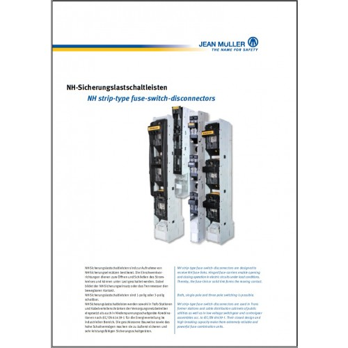 CATALOGUE - Jean Muller NH Strip Type Fuse Disconnectors 2015 Chapter 3