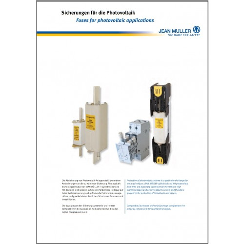 CATALOGUE - Jean Muller Solar PV Fuse catalogue 2015 Chapter 3